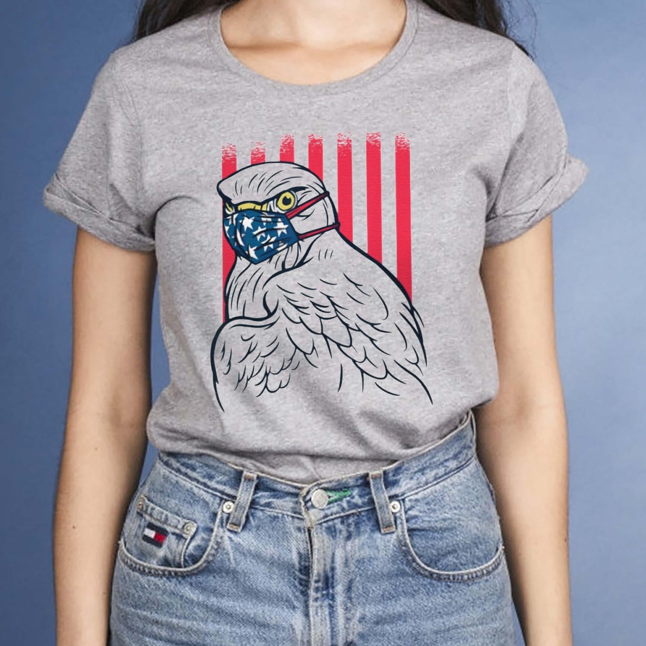 American-Eagle-mask-quarantine-T-Shirt