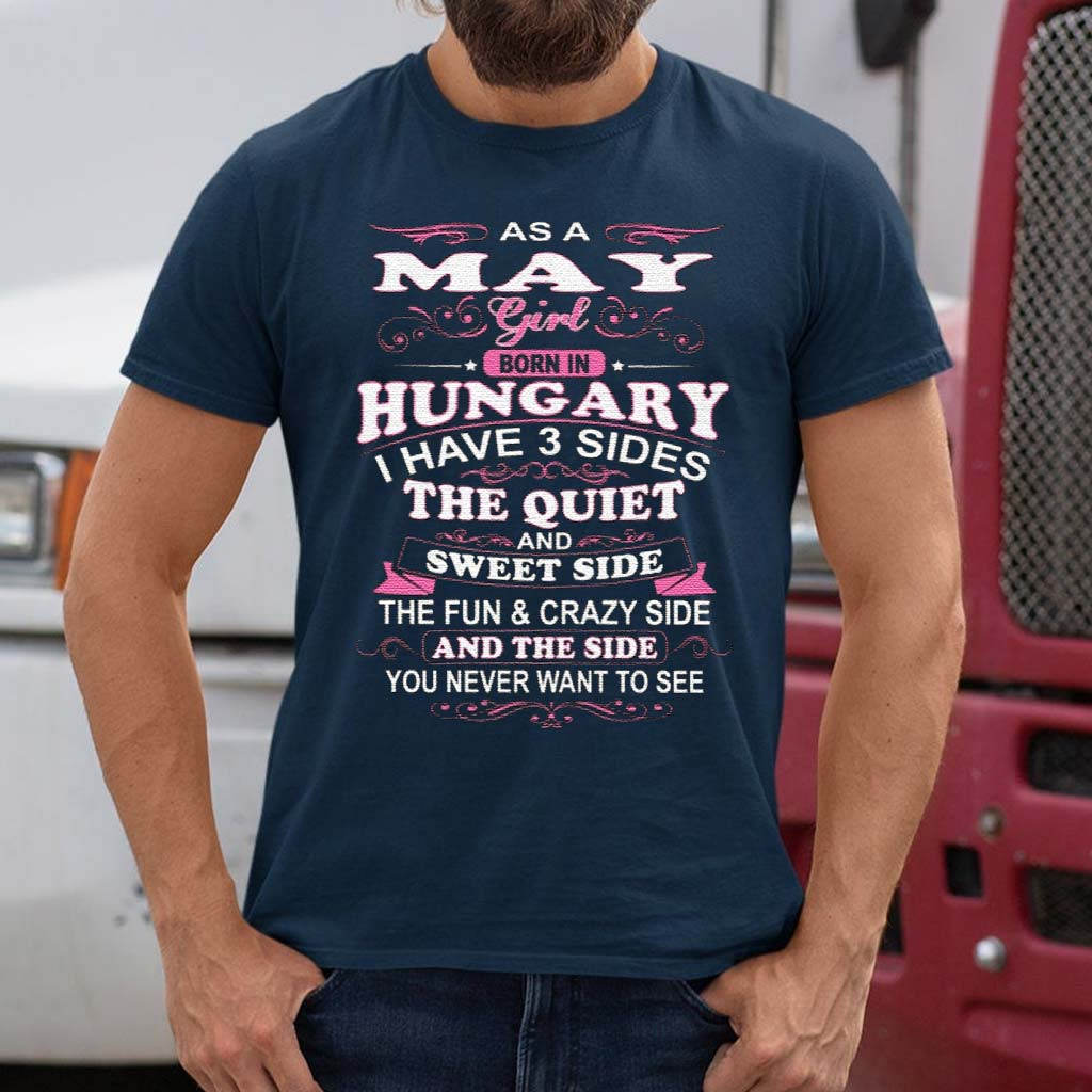 As-A-May-Girl-Born-In-Hungary-T-Shirt