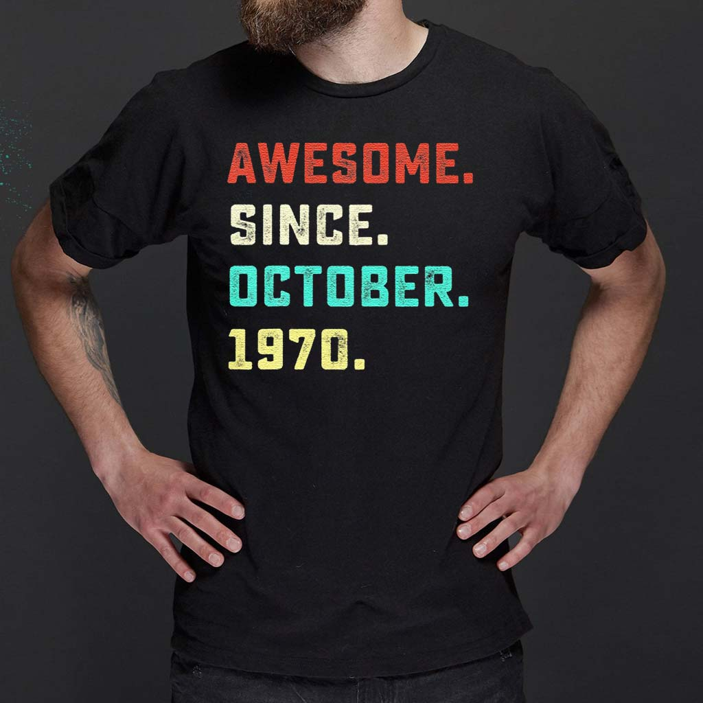 Awesome-Since-October-1970-T-Shirt