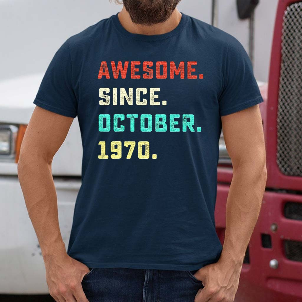 Awesome-Since-October-1970-T-Shirts