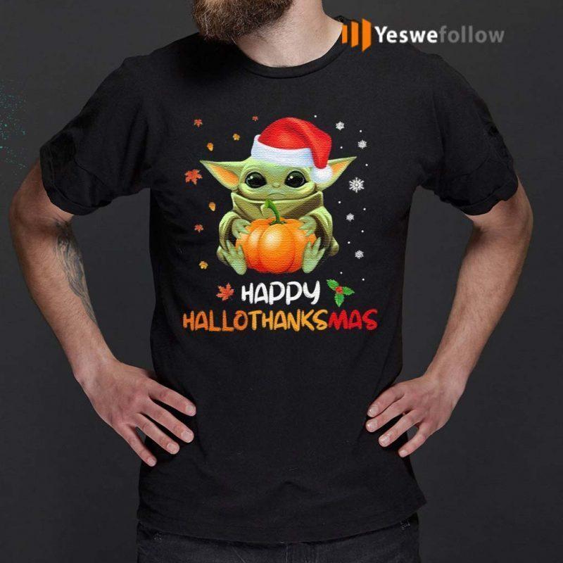 Baby-Yoda-Happy-Hallothanksmas-T-Shirt