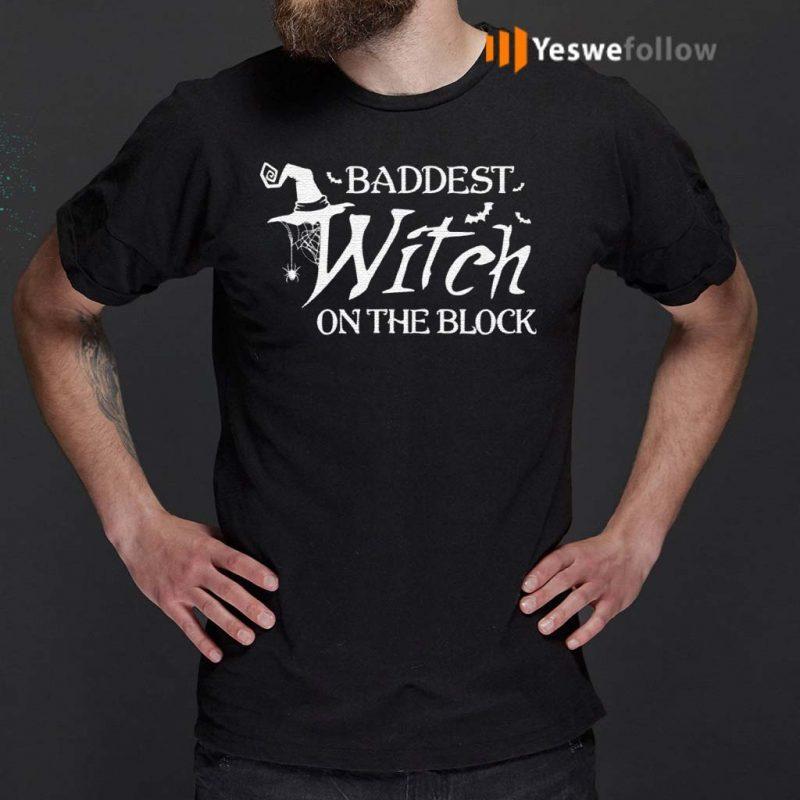 Baddest-Witch-On-The-Block-Halloween-T-Shirt