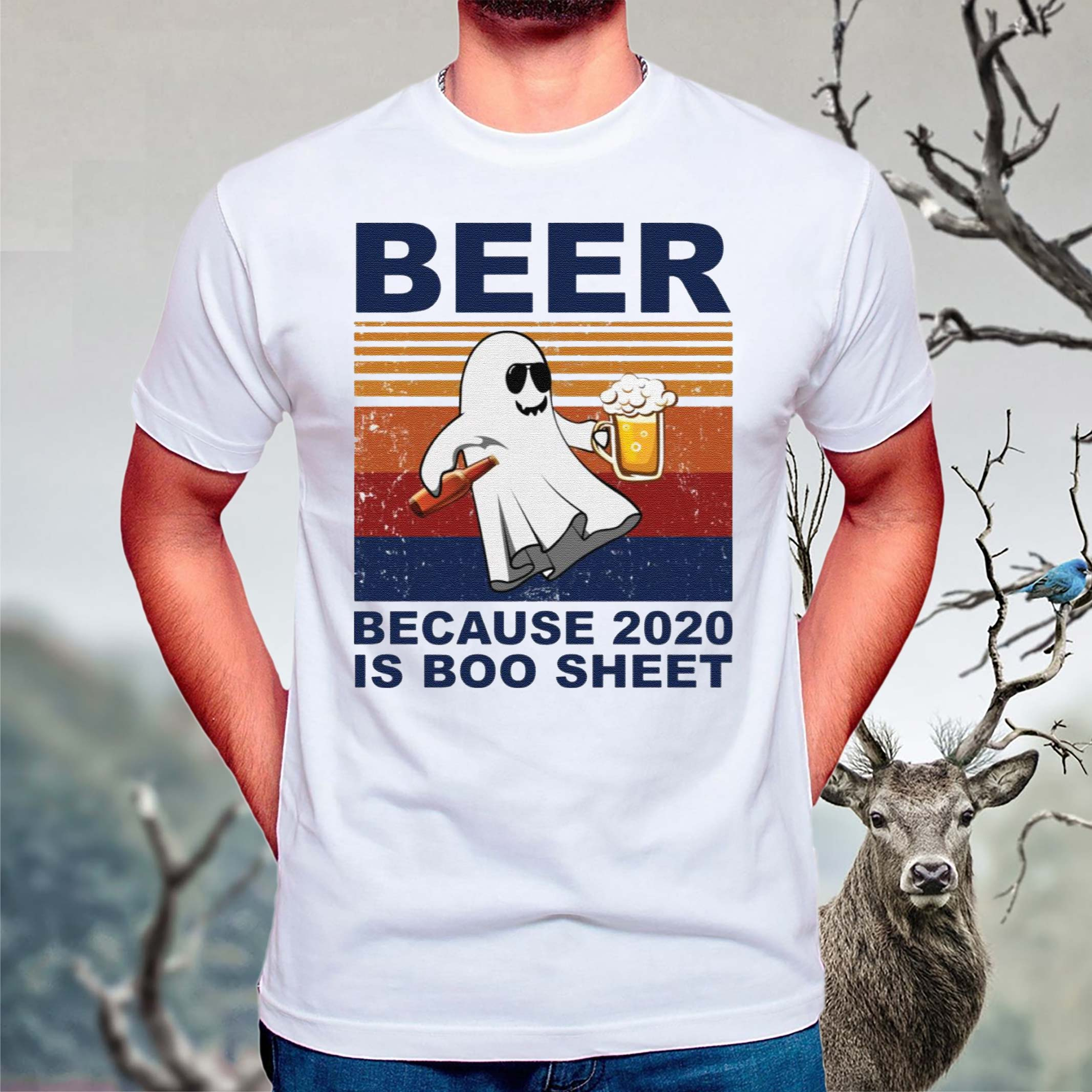 Beer-because-2020-is-boo-sheet-shirt