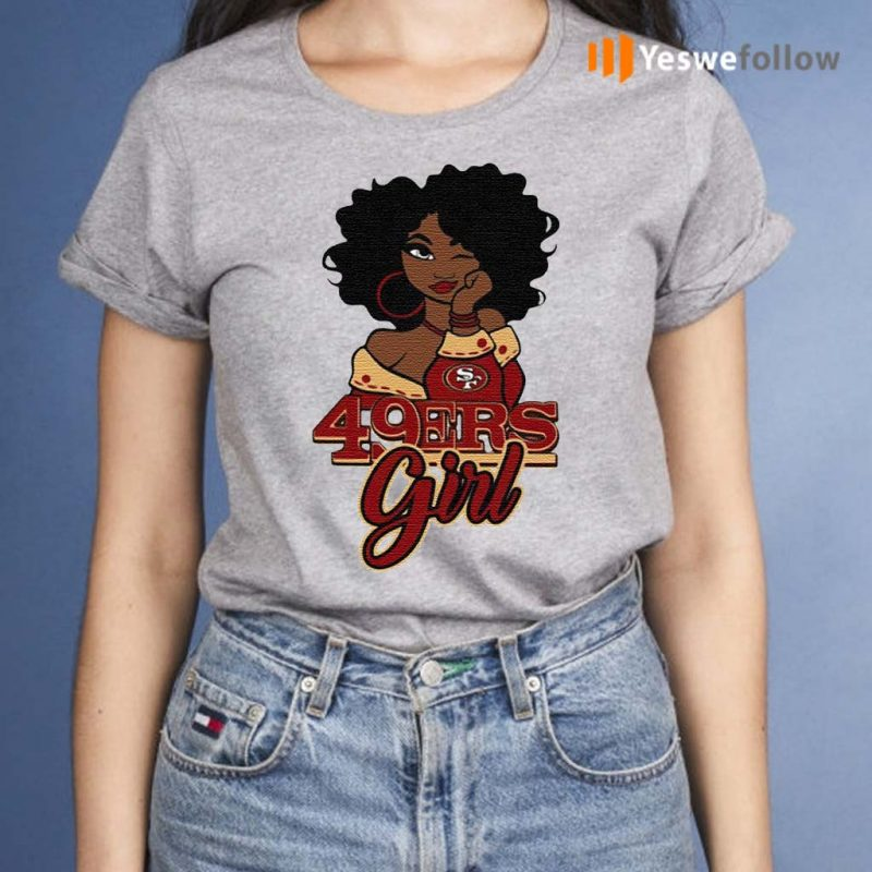Black-Girl-San-Francisco-49ers-Shirt