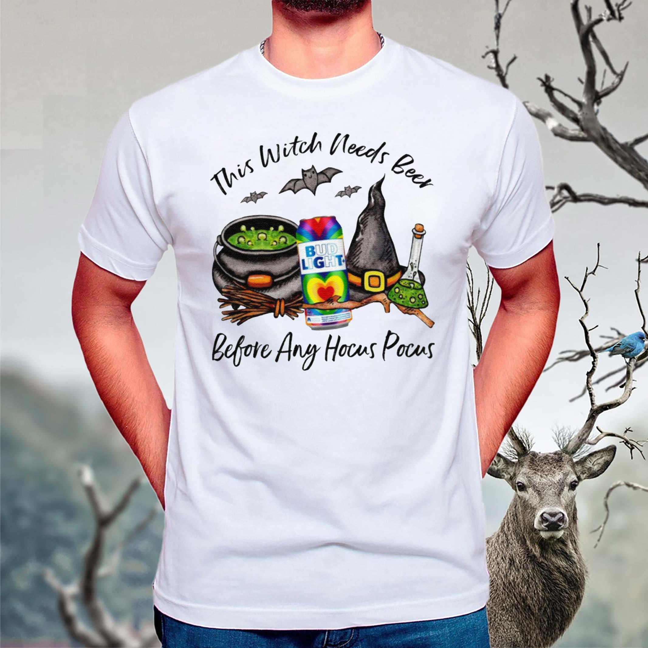 Bud-Light-Rock-Summer-Love-Ale-Can-This-Witch-Needs-Beer-Before-Any-Hocus-Pocus-T-Shirt