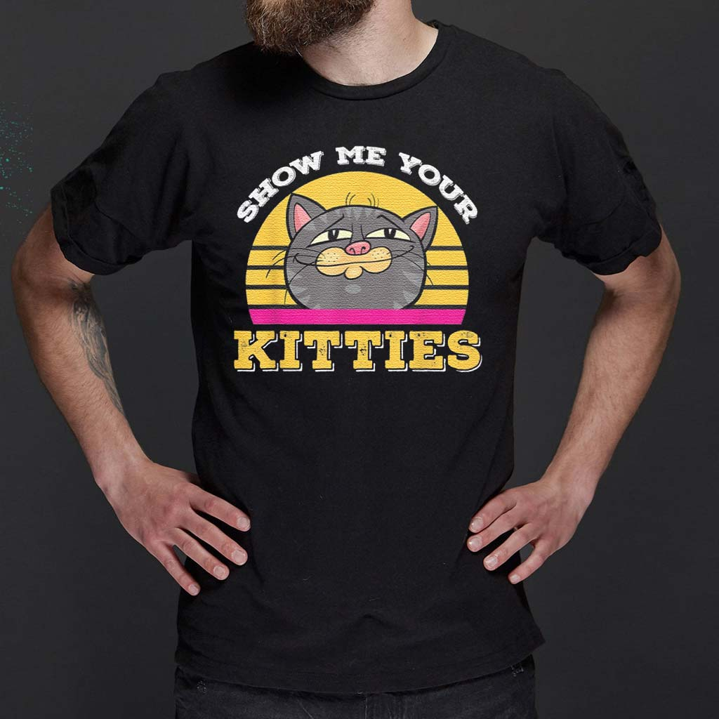 Cartoon-Show-Me-Your-Kitties-Cute-Cat-Humor-T-Shirt