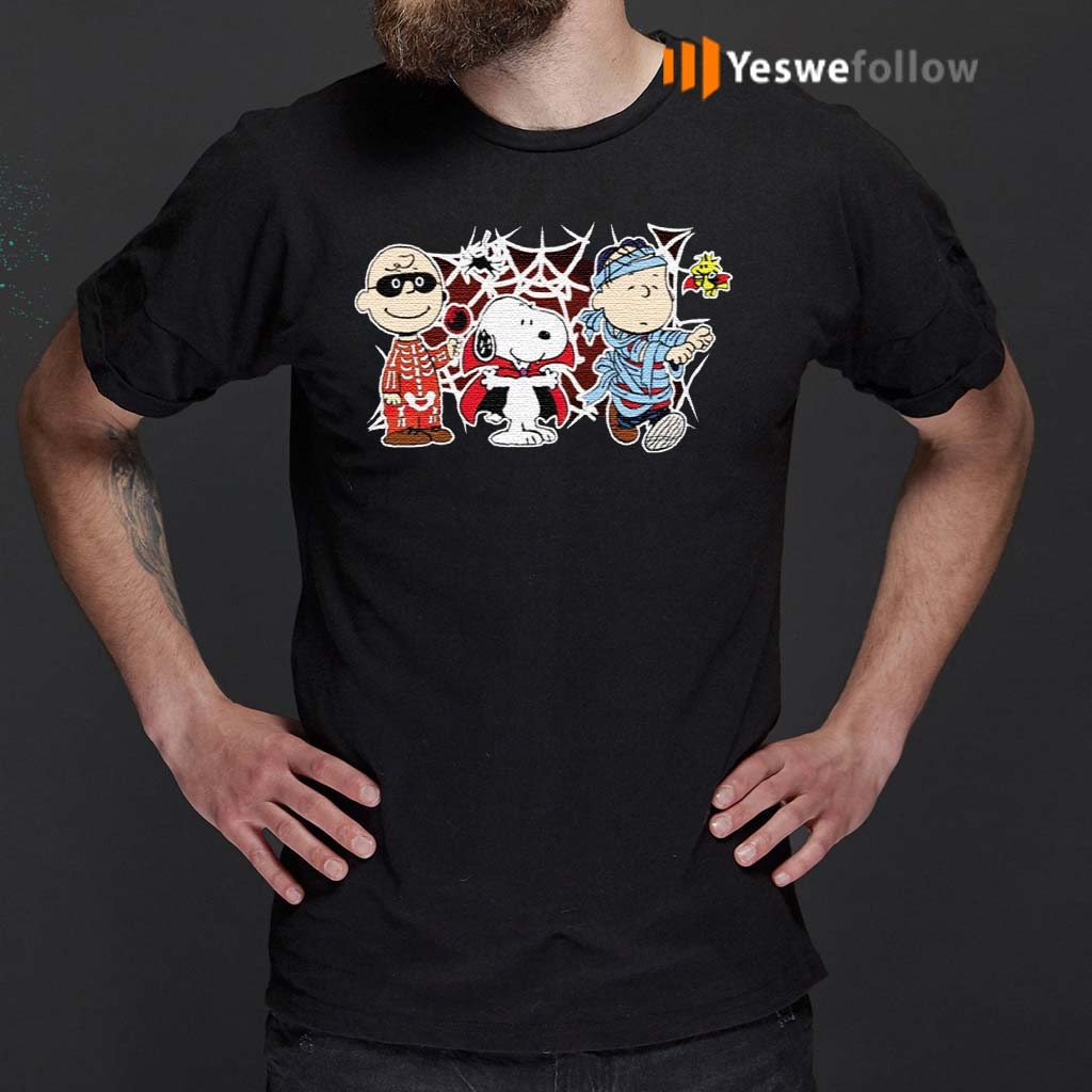 Charlie-Woodstock-Linus-Snoopy-Halloween-Night-Costumes-T-Shirts