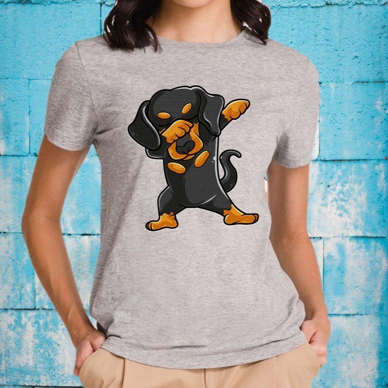 Cute Dabbing Dachshund Shirt Funny Dachshund Dab T-Shirt