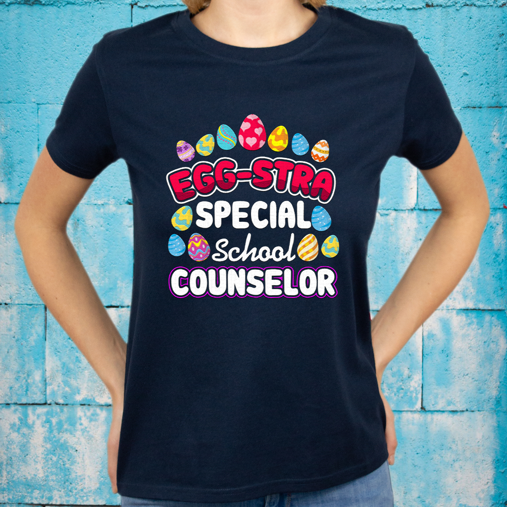 Easter Eggstra Special School Counselor Gift T-Shirts