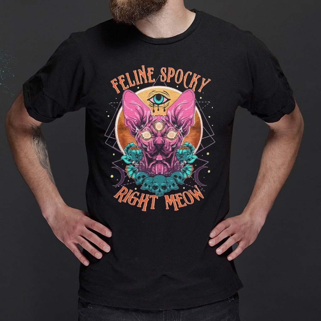 Feline-Spooky-Right-Meow-T-Shirt