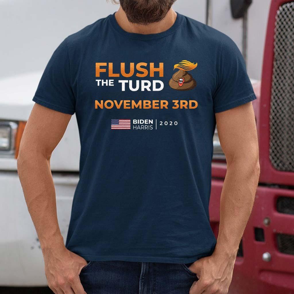 Flush-The-Turd-November-3rd-Biden-Harris-2020-T-Shirt