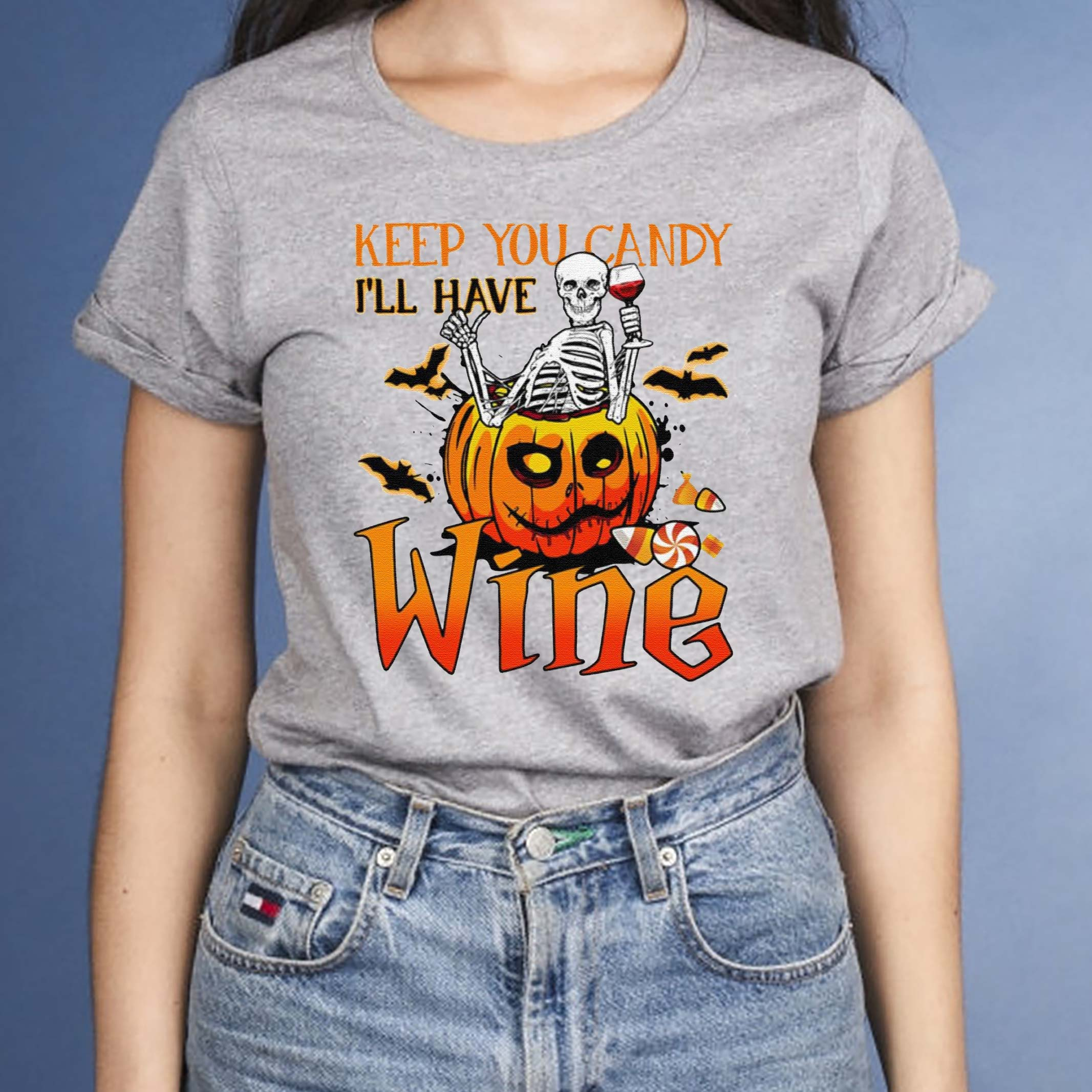 Halloween-Skeleton-Keep-You-Candy-Ill-Have-Wine-Pumpkin-T-Shirts