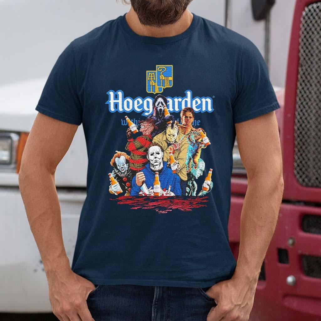 Hoegaarden-drink-Horror-movie-characters-Halloween-shirt