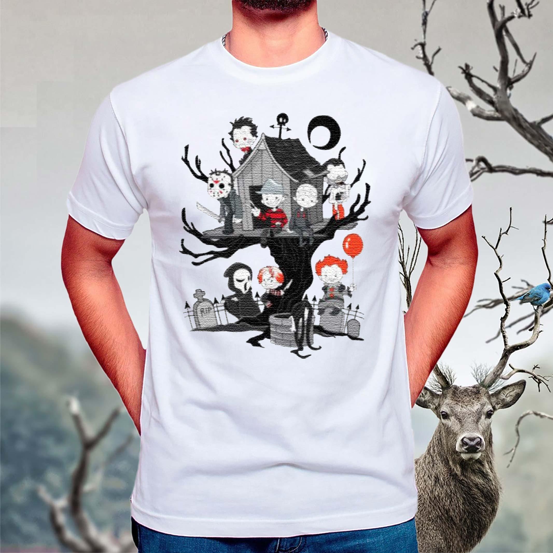 Horror-Friends-Halloween-T-Shirt