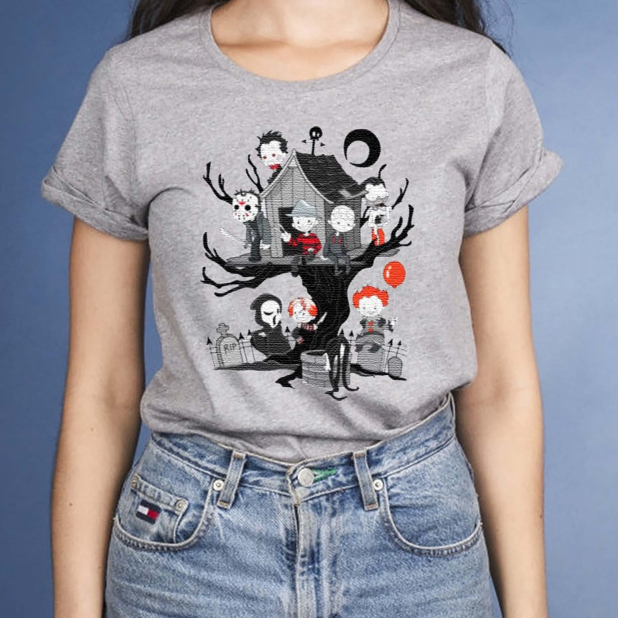 Horror-Friends-Halloween-T-Shirts