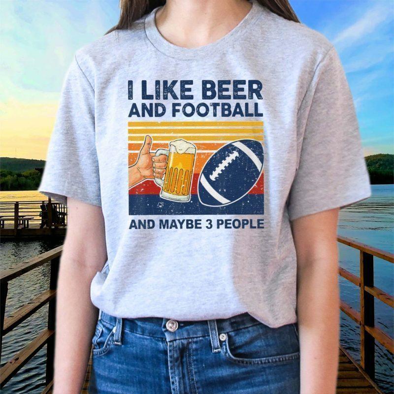 I-Like-Beer-Football-Maybe-3-People-Shirt-Classic-T-Shirt