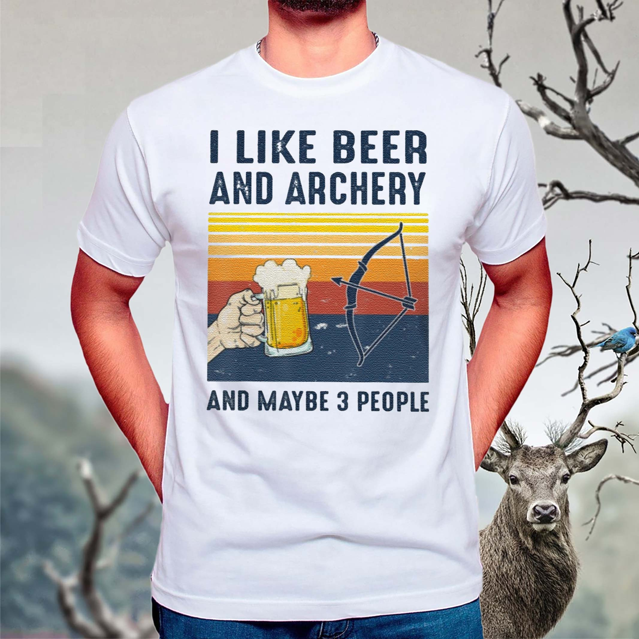 I-like-Beer-Archery-maybe-3-people-Shirt