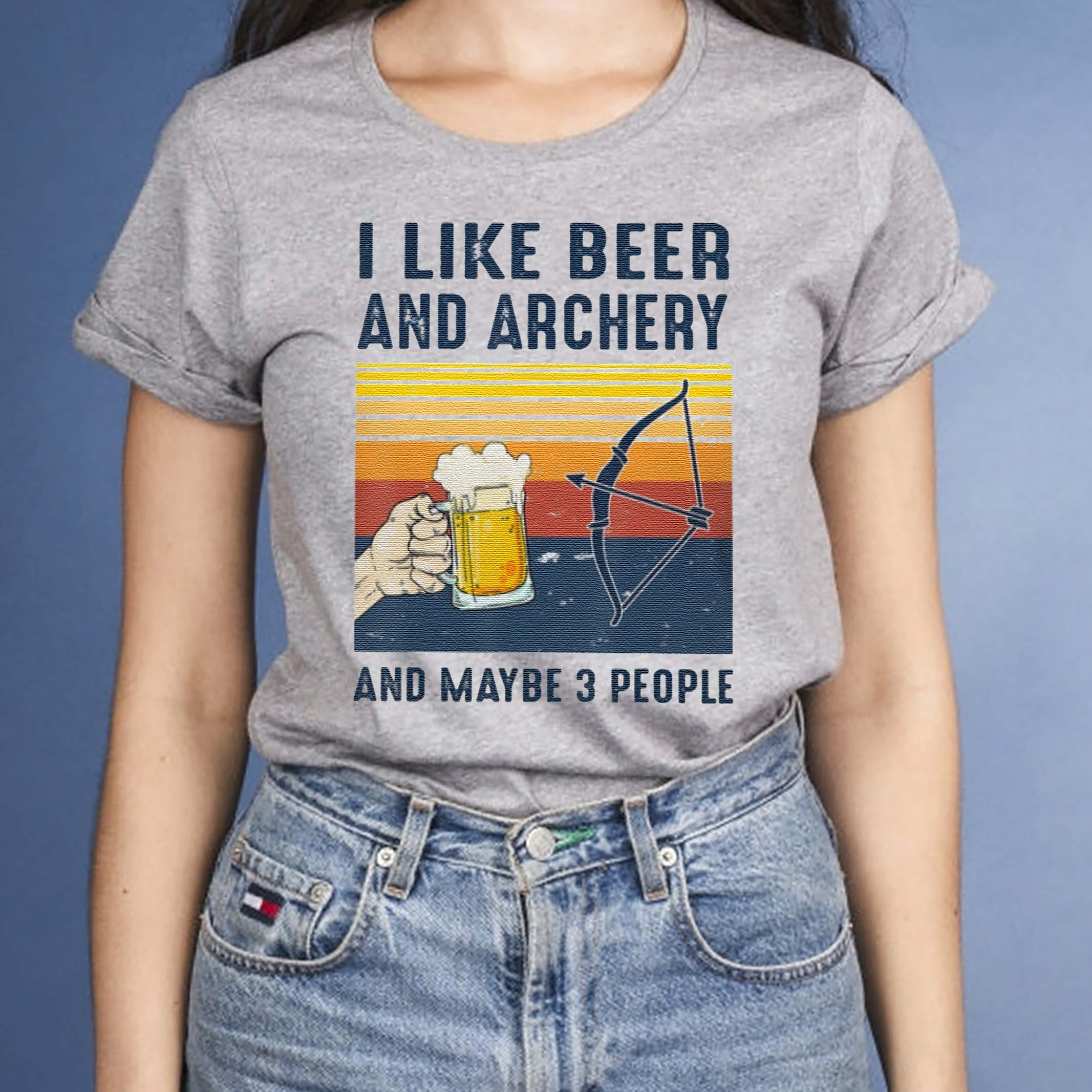 I-like-Beer-Archery-maybe-3-people-Shirts