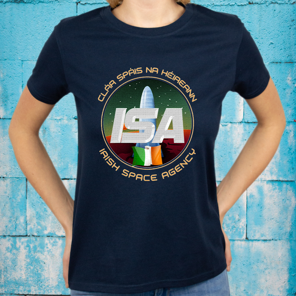 Irish Space Agency - Mission Patch T-Shirt