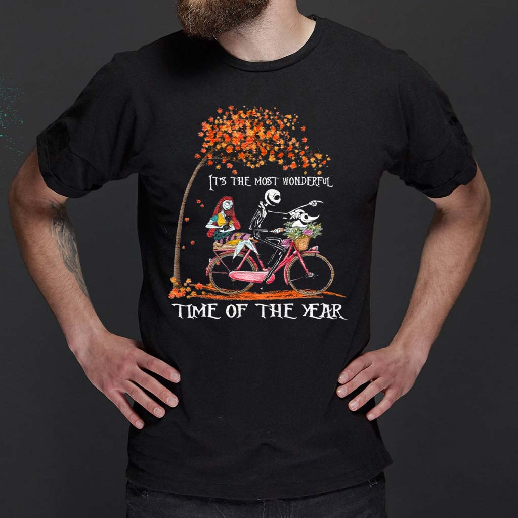 Jack-Skellington-Sally-And-Zero-It's-The-Most-Wonderful-Time-Of-The-Year-Halloween-T-Shirt