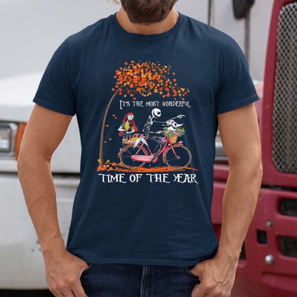 Jack-Skellington-Sally-And-Zero-It's-The-Most-Wonderful-Time-Of-The-Year-Halloween-T-Shirts