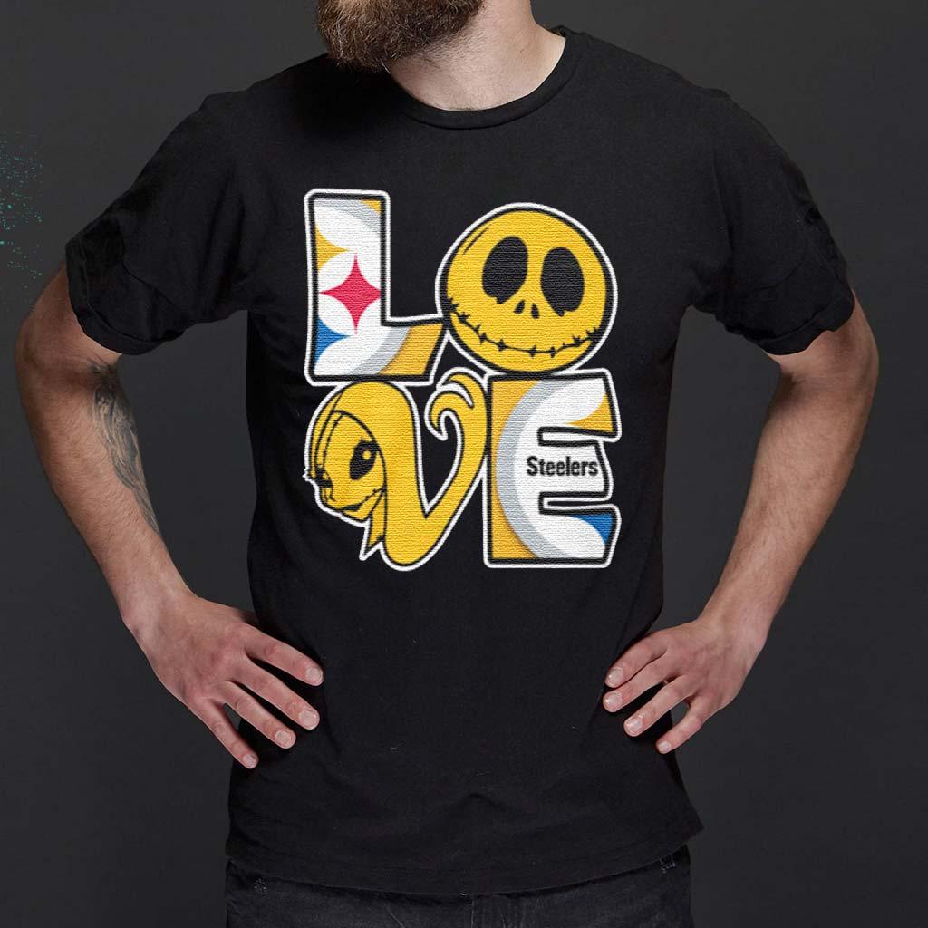 Jack-Skellington-and-Sally-love-Pittsburgh-Steelers-shirt