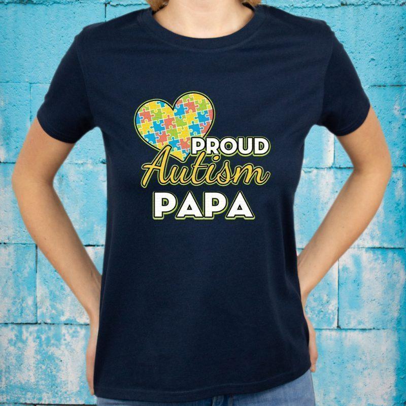 Mens Proud Autism Dad Tshirt Autism Awareness T-Shirt PAPA T-Shirts