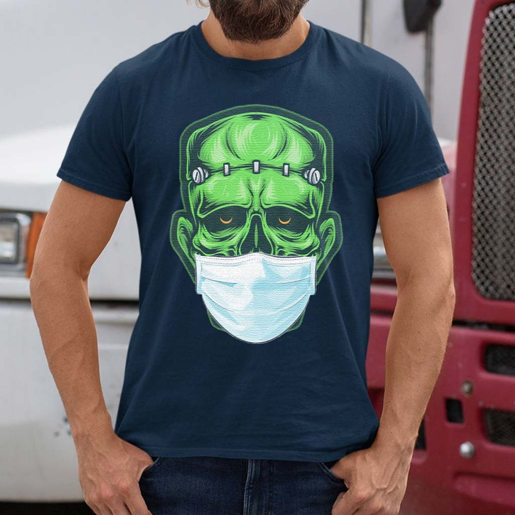 Monster-Zombie-Mask-Halloween-Shirt