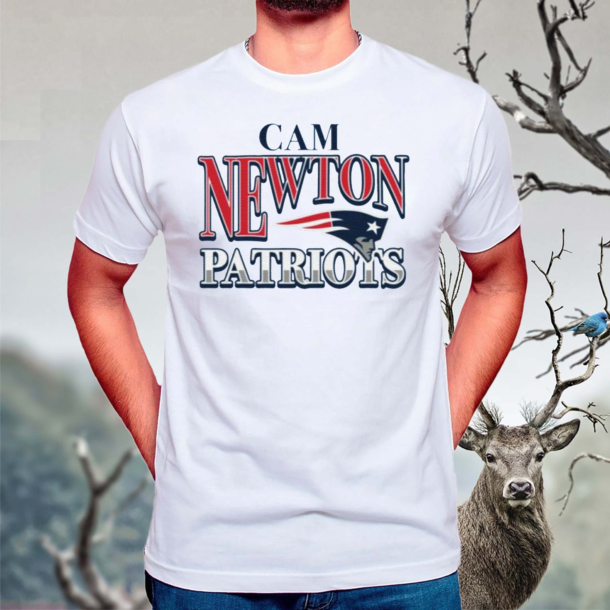 New-England-Patriots-Cam-Newton-T-Shirts