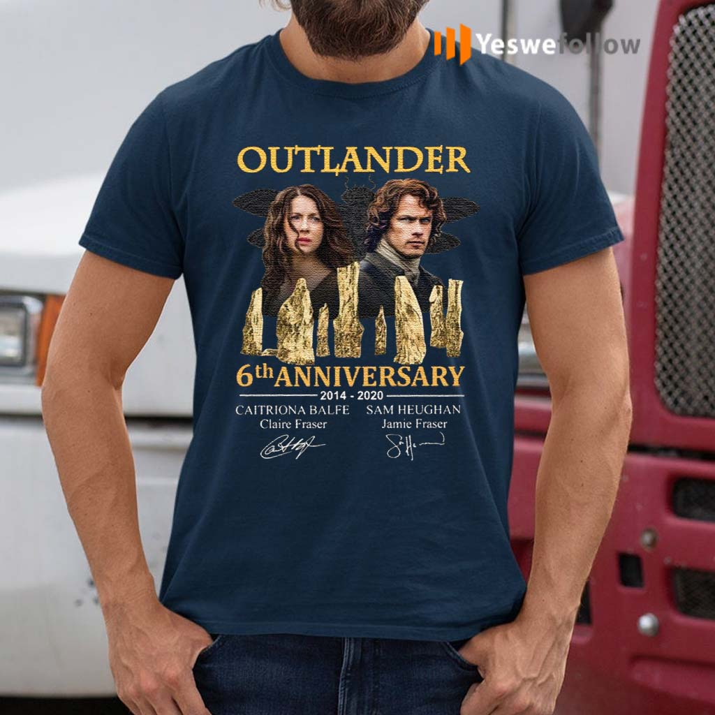 Outlander-5th-Anniversary-2014-2020-Signatures-T-Shirt