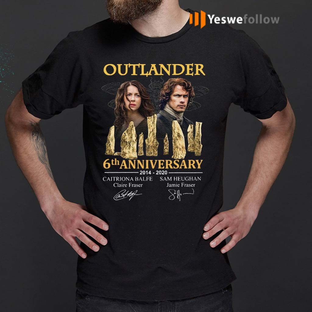 Outlander-5th-Anniversary-2014-2020-Signatures-T-Shirts