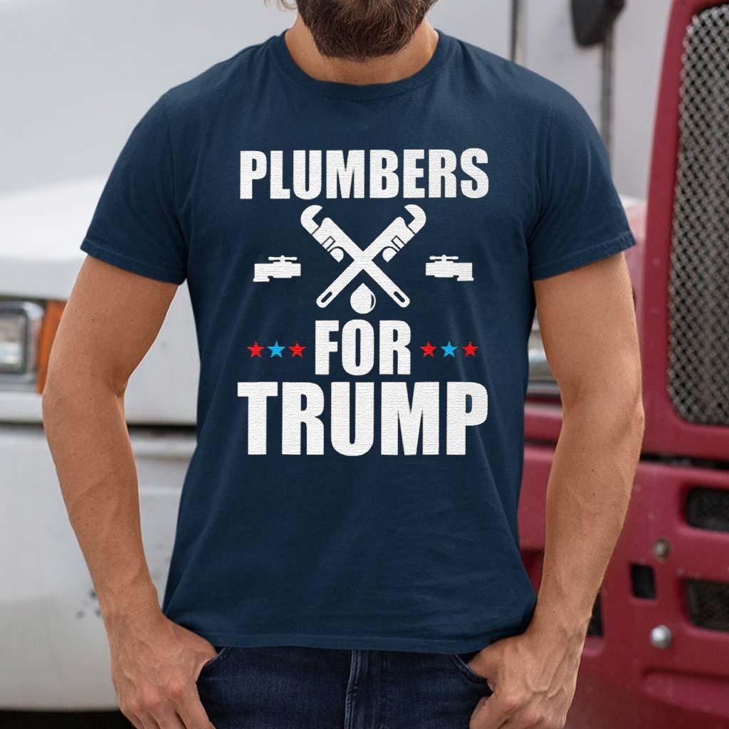 Plumbers-For-Trump-2020-President-Gift-T-Shirt-s