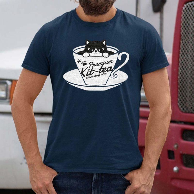 Premium-Kit-tea-Since-Day-Funny-TShirt