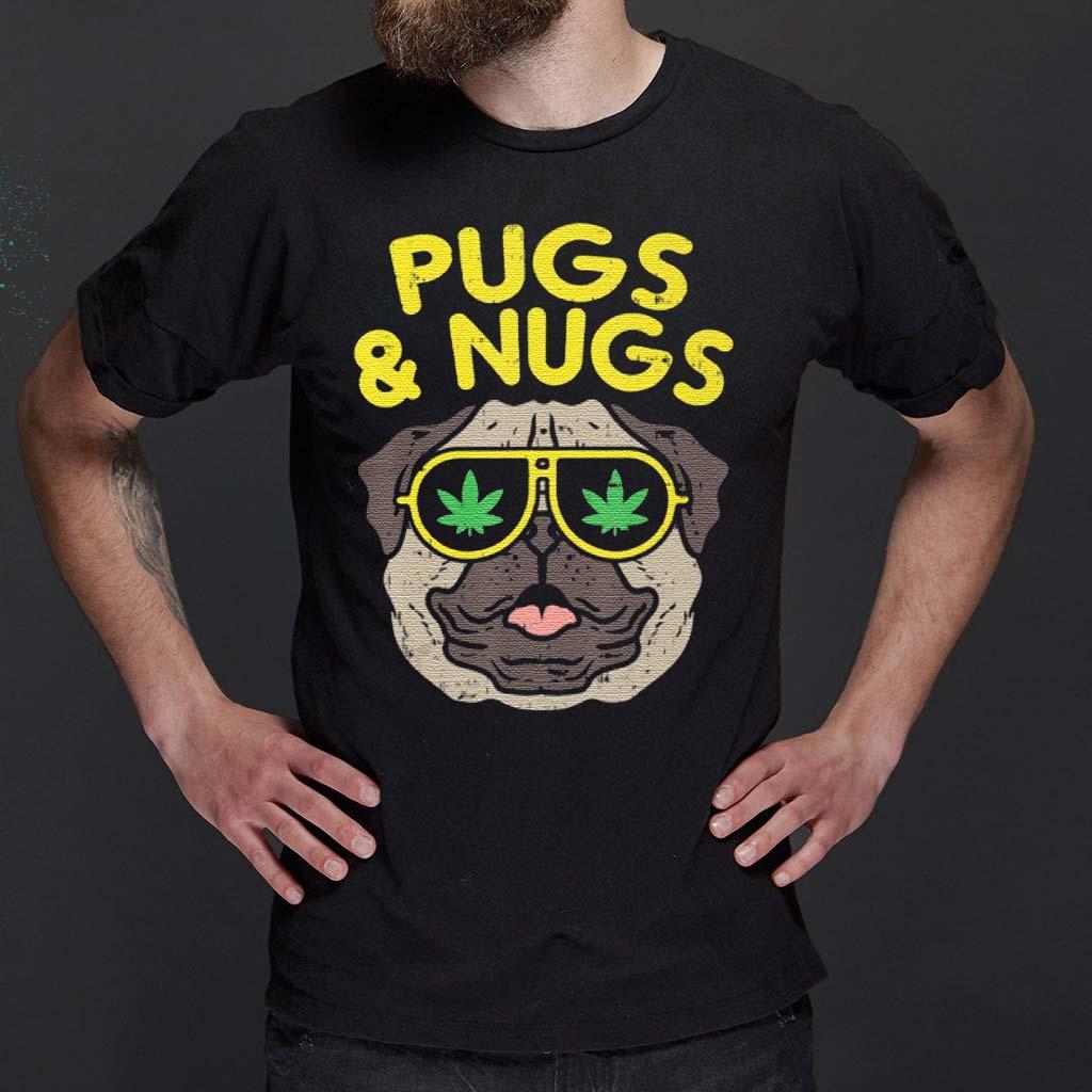 Pugs-And-Nugs-Weed-Cannabis-420-Smoking-Shirts