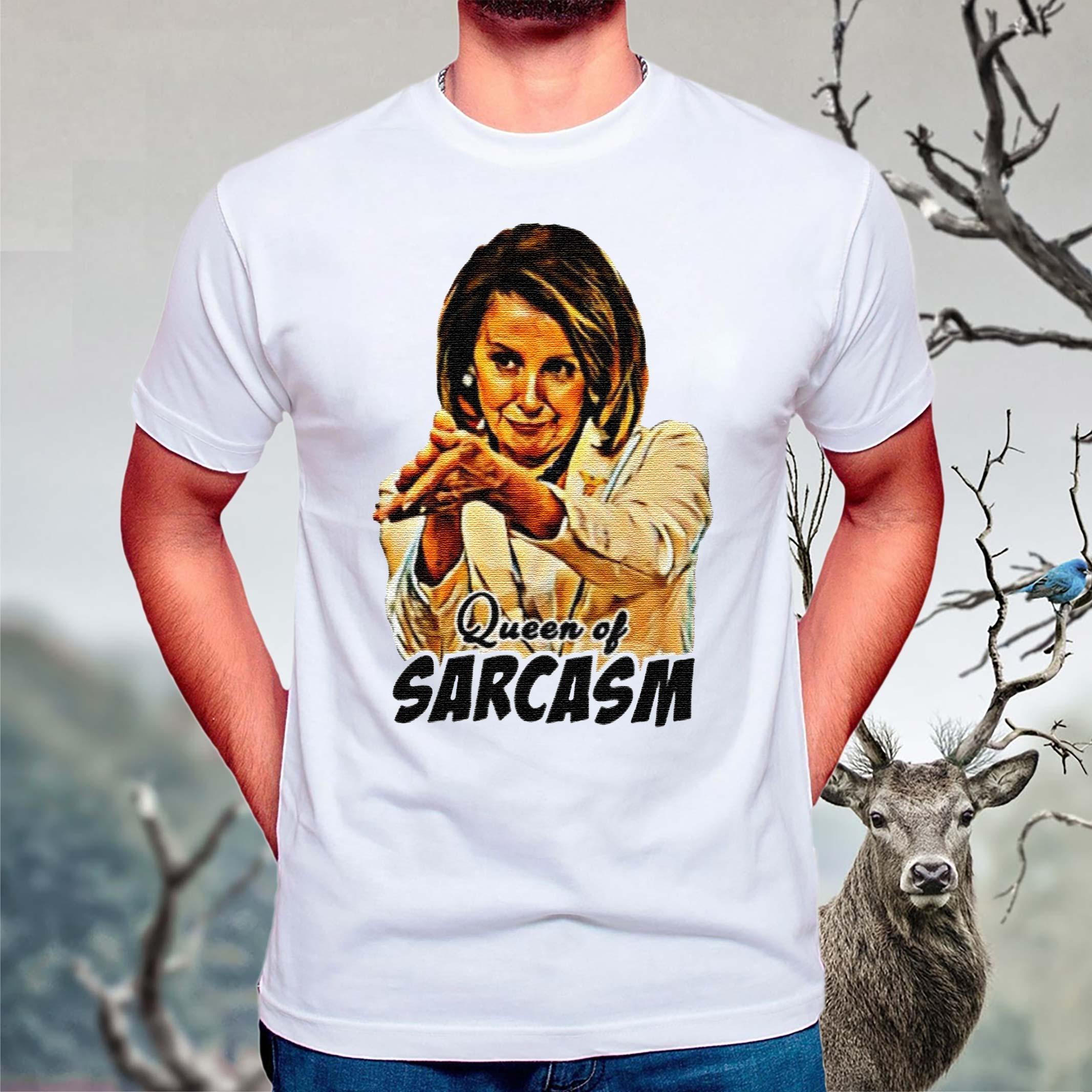 Queen-of-sarcasm-t-shirt