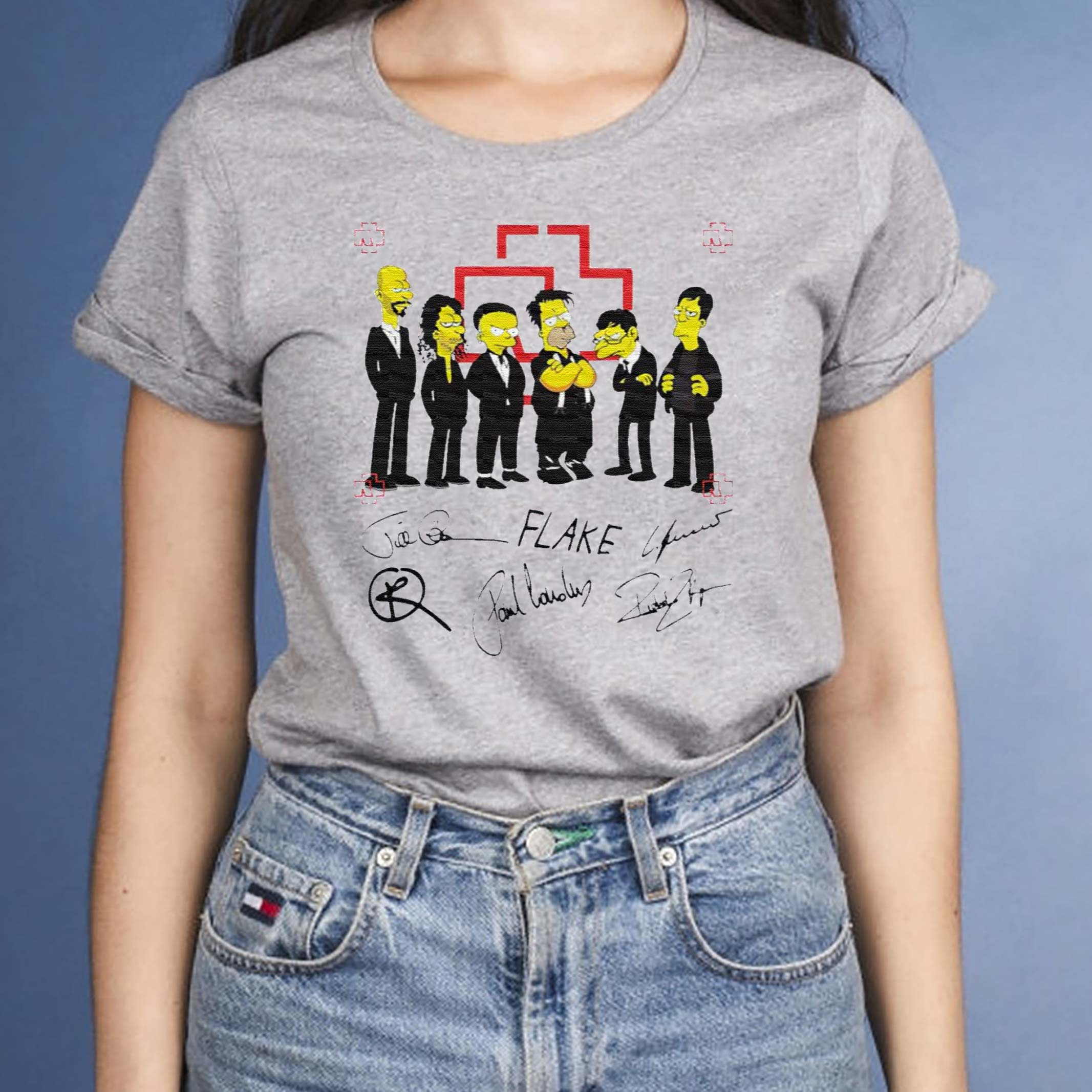 Rammstein-Simpsons-Flake-Signatures-T-Shirts