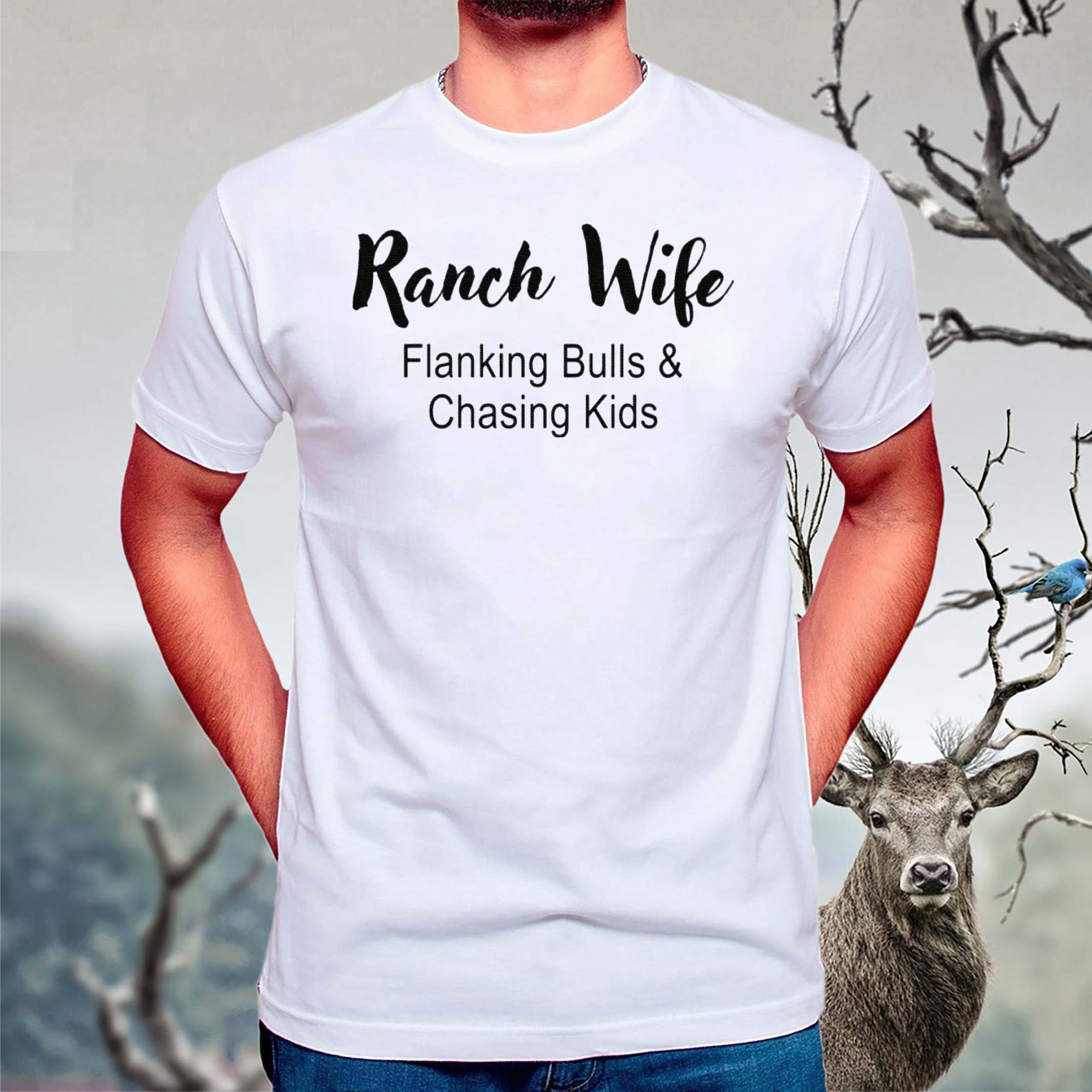 Ranch-Wife-Flanking-Bulls-Chasing-Kids-shirt