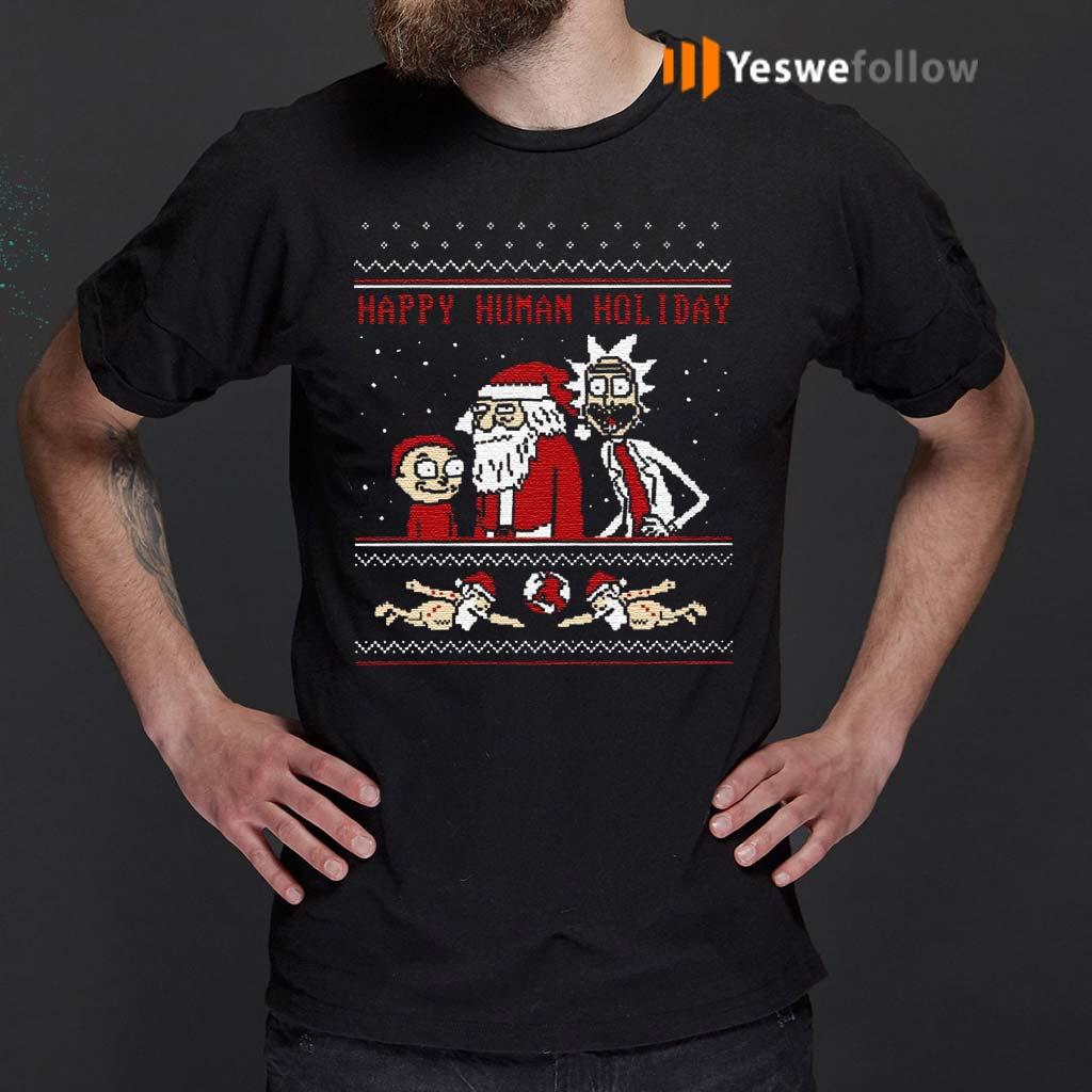 Rick-And-Morty-Happy-Human-Holiday-Ugly-Shirt