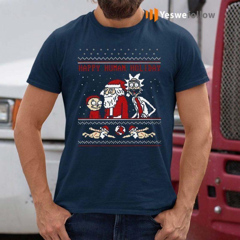 Rick-And-Morty-Happy-Human-Holiday-Ugly-Shirts