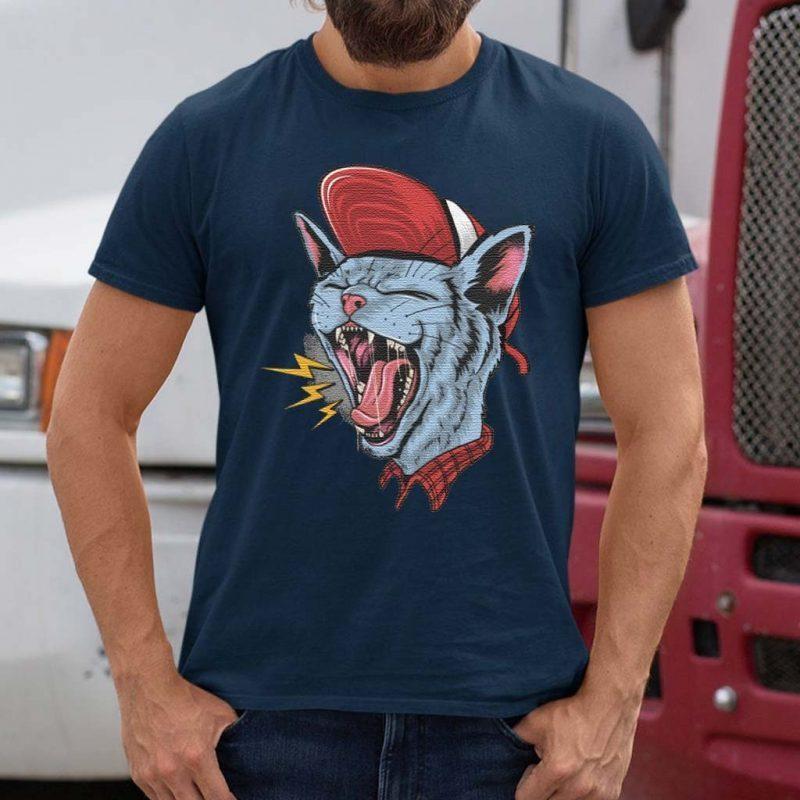 Rock-n-roll-cat-Classic-T-Shirts