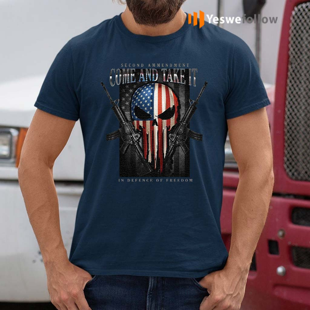 Skull-American-Flag-Second-Amendment-Come-And-Take-It-In-Defense-Of-Freedom-Shirts