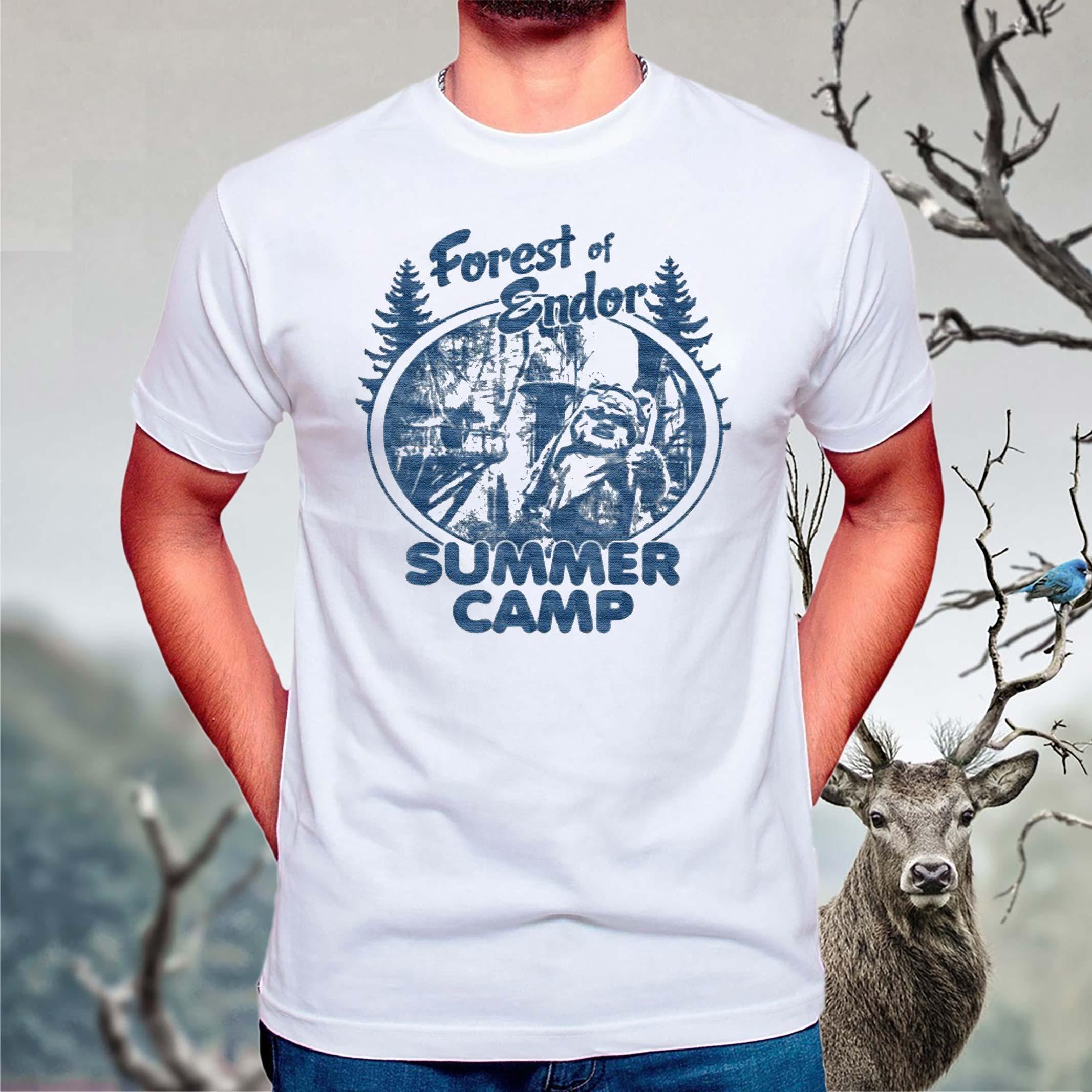 Star-Wars-Wicket-Ewoks-Endor-Forest-Summer-Camp-T-Shirts