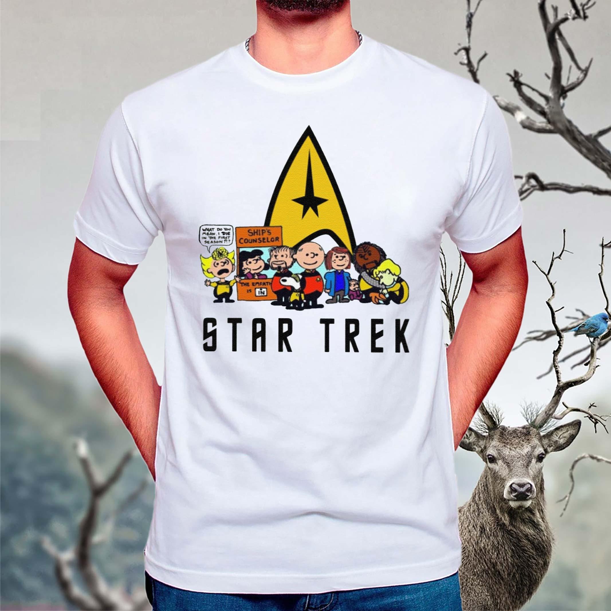 The-Peanuts-Characters-Cartoon-Star-Trek-Shirt