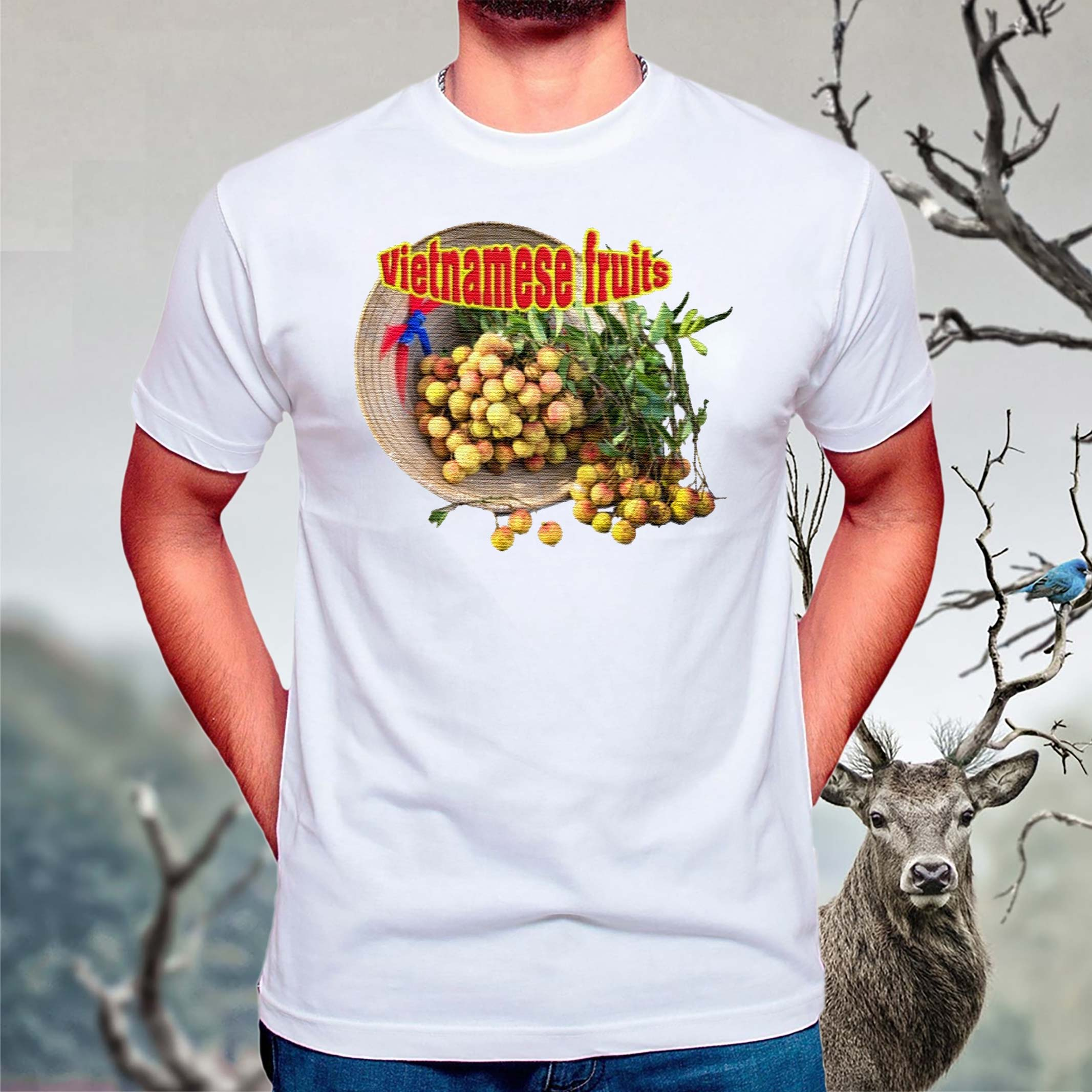 Vietnamese-fruits-Premium-t-shirts