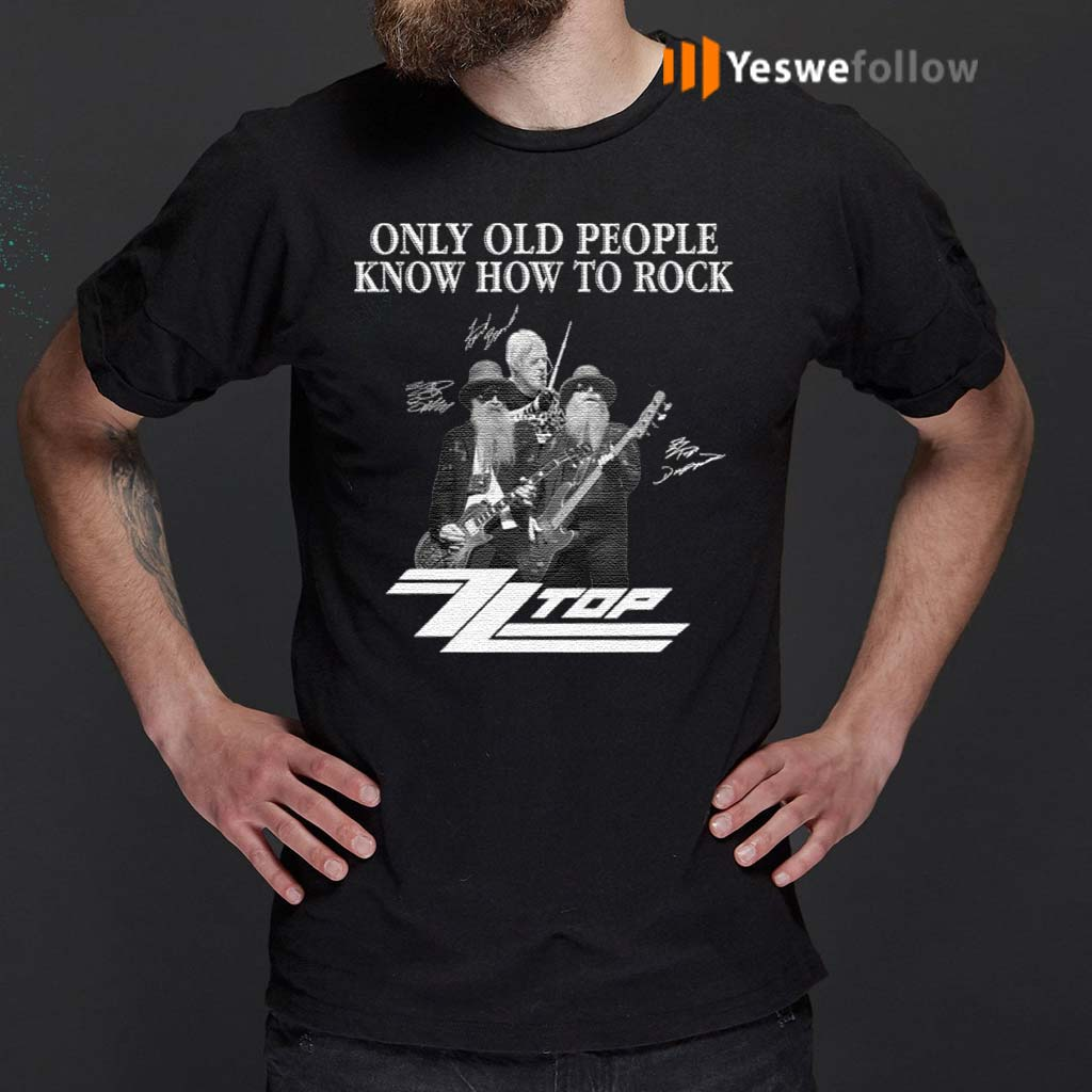 ZZ-Top-Only-Old-People-Know-How-To-Rock-Signature-T-Shirts
