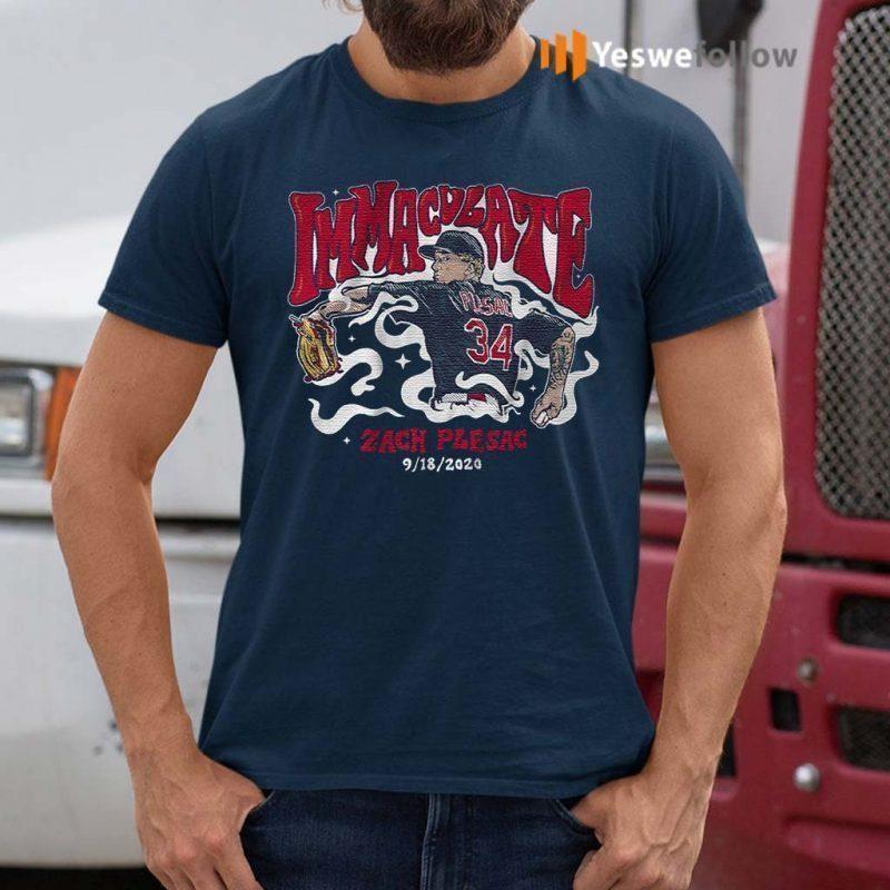 Zach-Plesac-immaculate-t-shirt