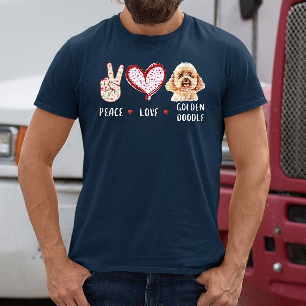 peace-love-Goldendoodle-Classic-T-Shirts
