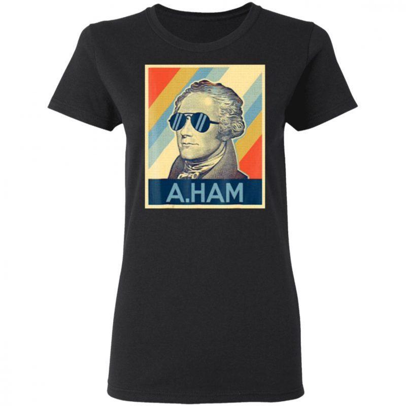 hamilton wearing sunglasses art T-shirt