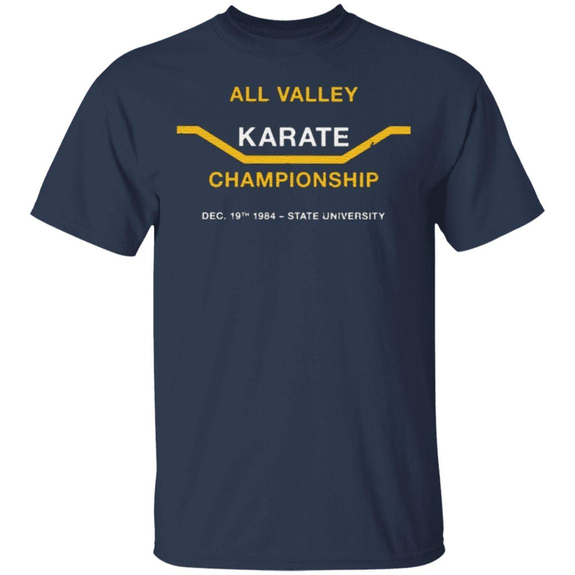 all valley karate tournament tshirt