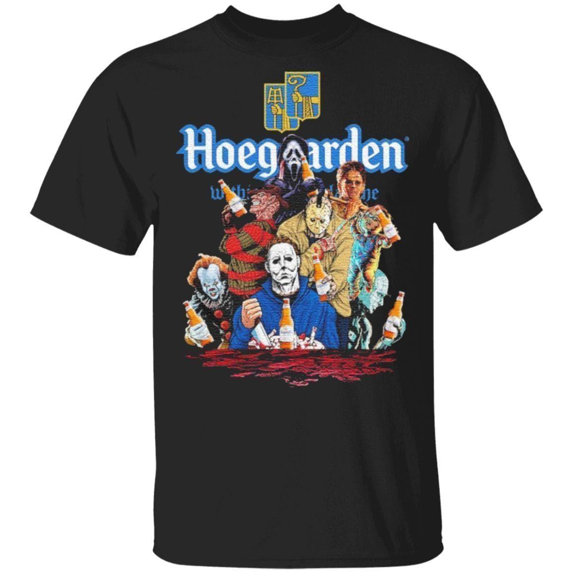 Hoegaarden drink Horror movie characters Halloween t shirt